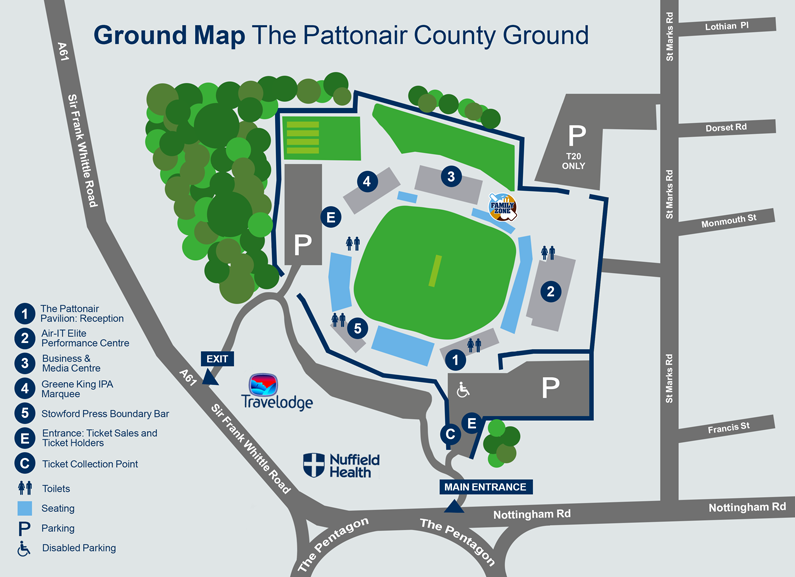 Ground Map & Visitor Guide | The County Ground | Derbyshire County